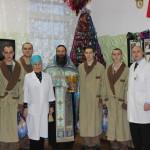После праздничного молебна в военной поликлинике гарнизона Видяево.