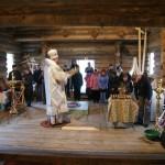 Архиерейская Божественная Литургия в строящемся храме во имя преподобного Серафима Саровского.
