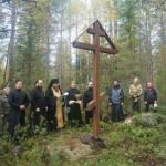 Освящение памятного креста на Погосте