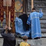 Молебен на строительстве собора в Умбе