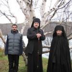 Правящий архиерей с насельниками скита