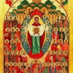 Икона собор святых покровителей воинства Российского.